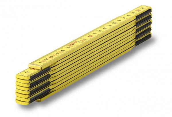 SOLA Holz-Meterstab 2m, gelb, EG-Klasse 3