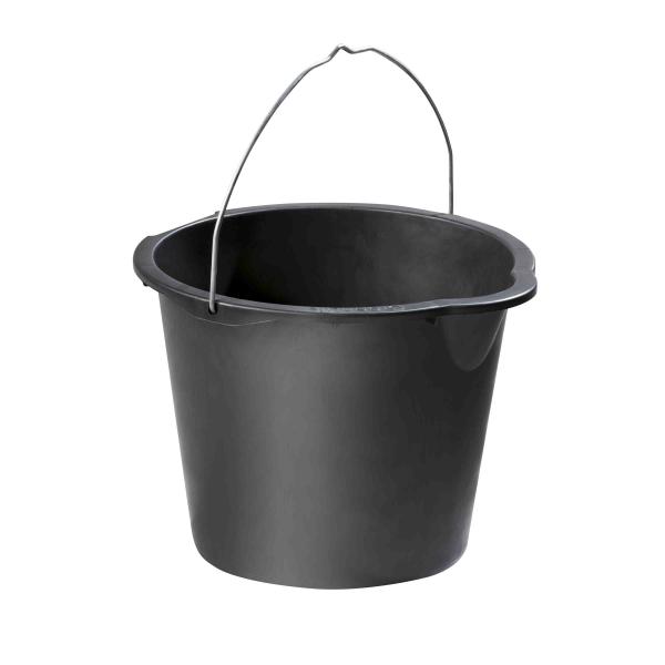 Baueimer, schwarz 12 Liter