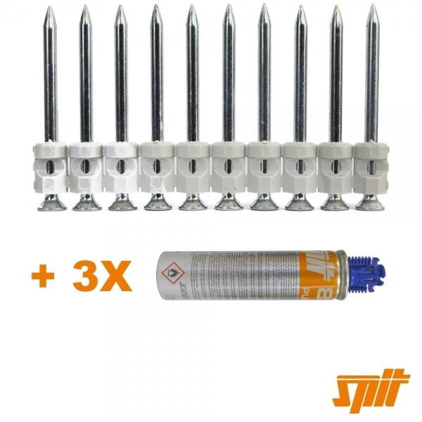 Spit Pulsa 800 Nägel C6-40 (1.500 Stk. + Gas)