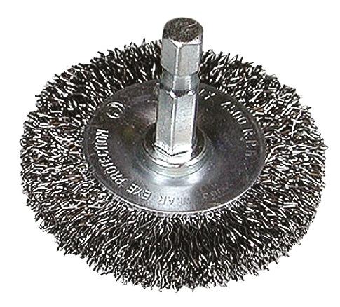 "Rundbürste 1/4"" 6KT Draht 0,3mm 100mm, gewellt"