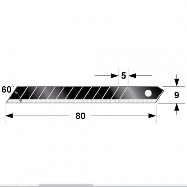 Ersatzklingen 9mm Box Tajima Razar Black 10er Pack