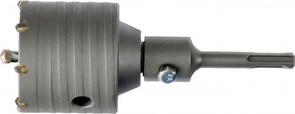 Schlagbohrkrone D82 + SDS+ Schaft + Zentrierbohrer