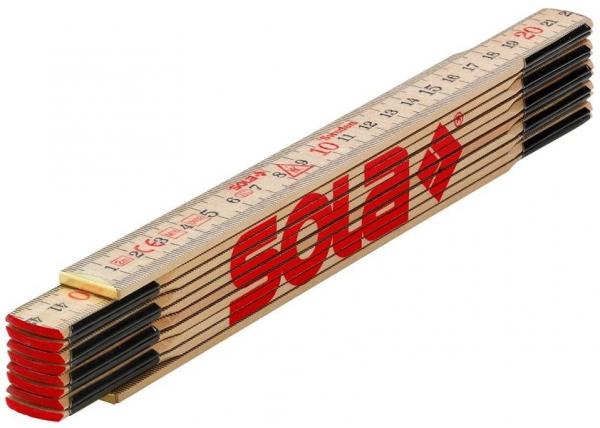 SOLA Holz-Meterstab 2m, natur, EG-Klasse 3