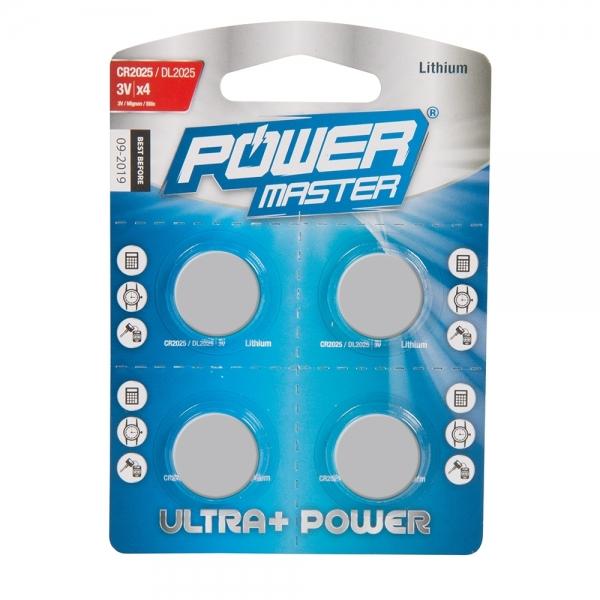 Knopfzellen Lithium CR2025 4er Pack