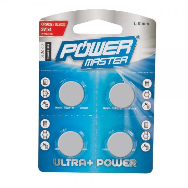 Knopfzellen Lithium CR2032 4er Pack