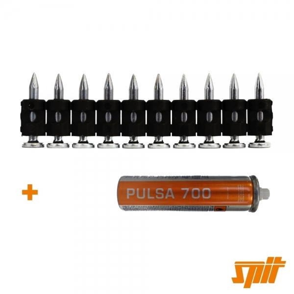 Spit Pulsa 700 Nägel C6-25 (500 Stk. + Gas)