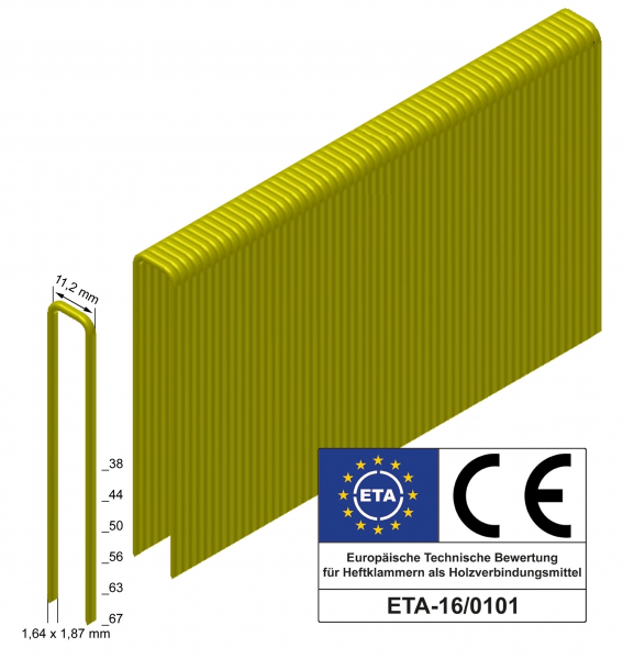 Heftklammer Q-56 CSVHA, ETA, SVZ, geharzt VE=6.300
