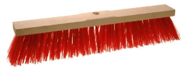 Straßenbesen aus Sattelholz / Elaston, rot 50cm